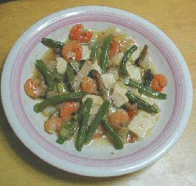 豆腐と海老の炒めあんかけ