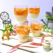 桃のコンポートでヨーグルト桃ゼリー♡の写真