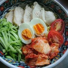 親子で作る暑い時期にピッタリ冷麺