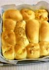 新聞紙の型でちぎりパン