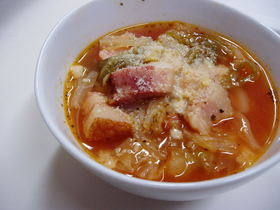 キャベツたっぷり こくうまスープ☆