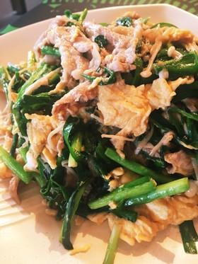 豚肉とニラの中華風卵炒め