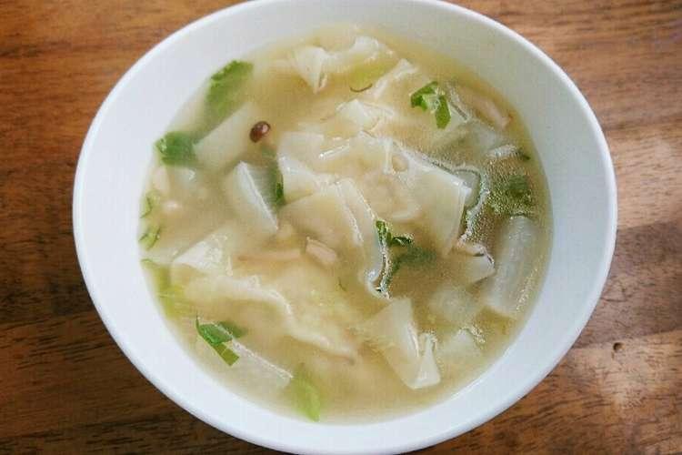 スープ レシピ ワンタン