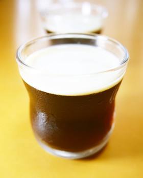 コーヒーゼリー(無糖)~黒みつ豆乳がけ~