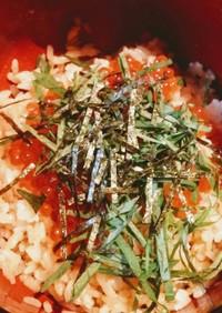 わさび醤油ご飯のイクラ丼