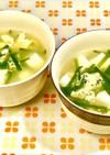 豆腐とニラの☆かき玉スープ