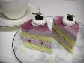 ブルーベリームースケーキ