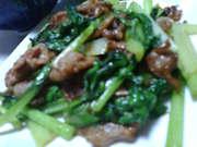 小松菜と豚肉の炒め物♪の写真