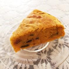 簡単☆皮ごとかぼちゃたっぷりケーキ