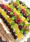 ヨーグルトクリームで葡萄のスコップケーキ