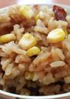 焼豚入り☆赤味噌&ガーリックのコーンご飯