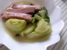 青梗菜の簡単クリーム煮