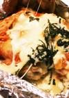 簡単♩鶏胸肉のキムチーズホイル焼き