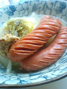 ソーセージと白菜のくたくた煮