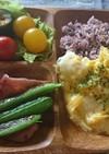 トロトロ玉子の黒米ご飯