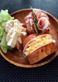 三種のサンドイッチ
