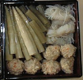 蕗と竹の子の煮物