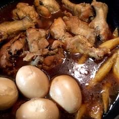 手羽元と卵の黒酢煮