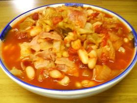 炊飯器deキャベツのトマト煮込み
