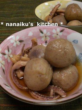 圧力鍋で❤ 里芋とイカ足の煮物