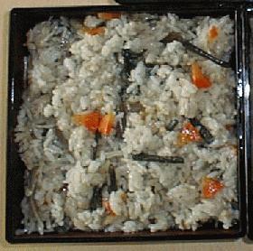 山菜入り炊き込みご飯
