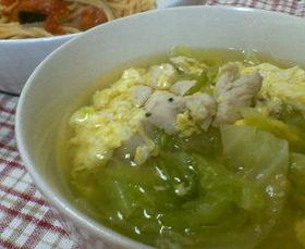 キャベツの親子スープ
