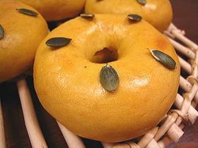 かぼちゃベーグル