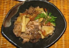 牛肉と山芋のオイスター炒め