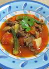 ラム肉とオクラの煮込み
