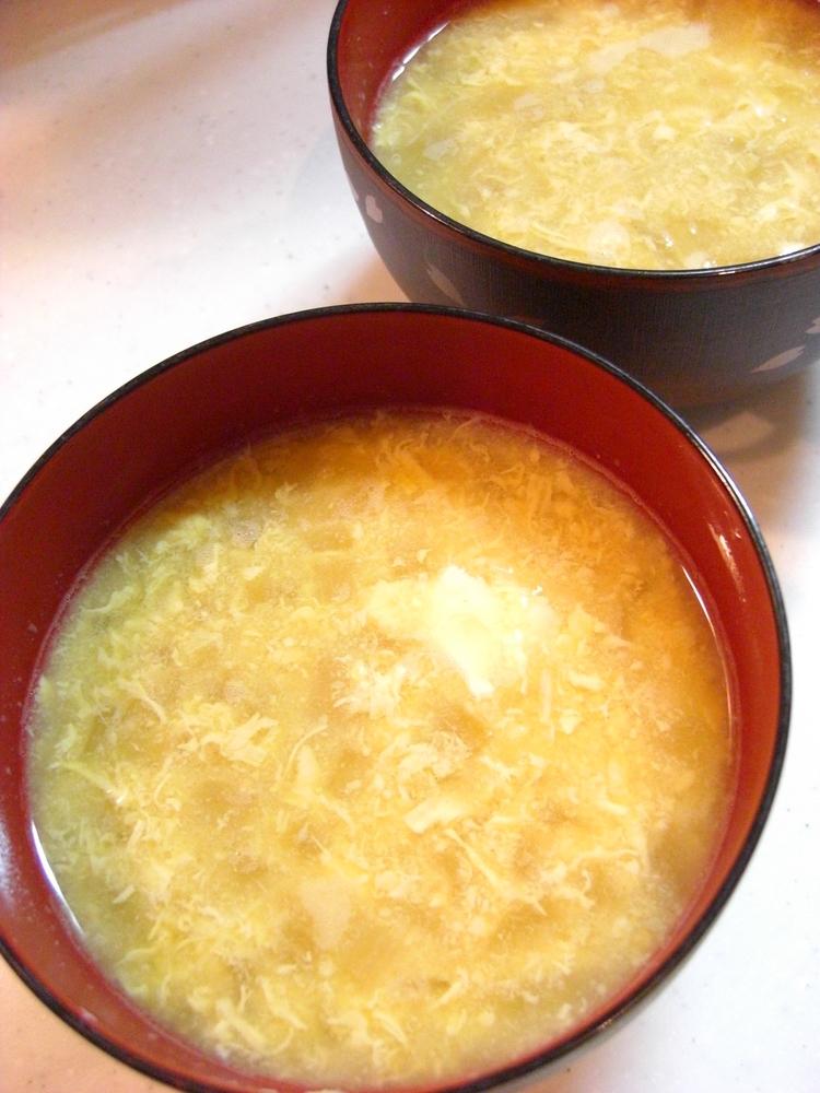 ✿玉ねぎとたまごの味噌汁✿