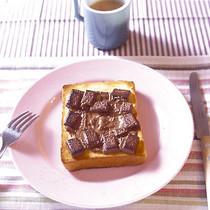 板チョコトースト