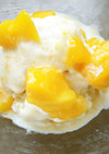 材料2つマンゴーのココナッツミルクアイス
