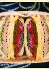 焼豚ボリュームサンドイッチ♥南瓜苦瓜⭕️