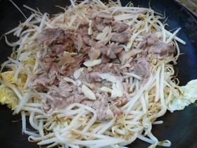 もやしと豚肉の中華鍋蒸し