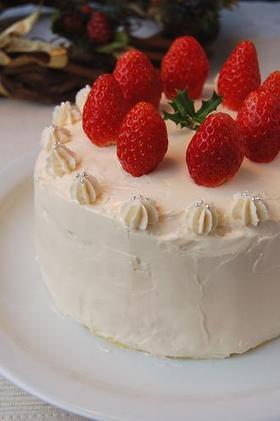 苺のバタークリームケーキ★