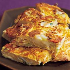 野菜たっぷりチーズ卵焼き