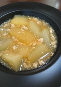 冬瓜と鶏ひき肉の煮物♪