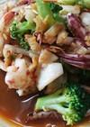 イカとブロッコリーのピリ辛炒め