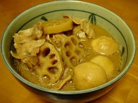 ☆圧力鍋で♪豚バラと根菜の味噌煮