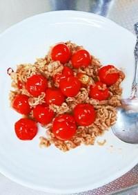 激辛ひーひー牛肉とトマトペペロンチーノ