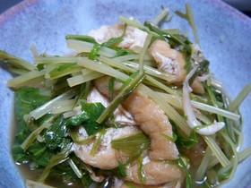 カルシウムたっぷり♪水菜煮