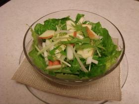 旬サラダ りんごと水菜