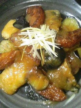 鯖と茄子の甘味噌炒め