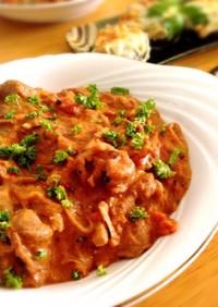 ラム肉のマスカルポーネトマト煮込み