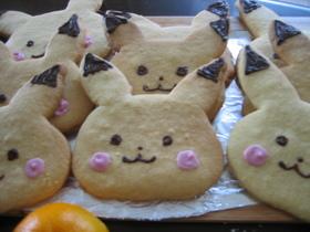 大判!ピカチュウ型抜きクッキー