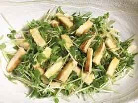 九条ねぎと焼き油揚げの薬味サラダ