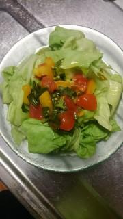 みさきキャベツのバジルトマト和えの写真