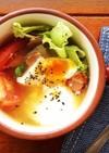朝食に!ポーチドエッグ入りBLTスープ
