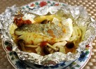 ヘルシーな鱈の梅肉ホイル焼き
