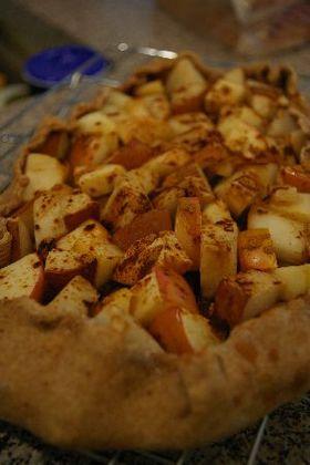 全粒粉で林檎と洋梨のパイ風 マクロビ
